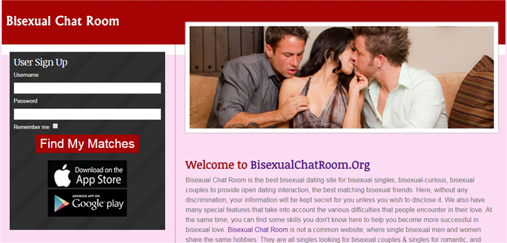 Bisexual chat room